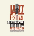 poster for live concert jazz music vector image