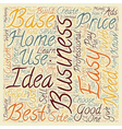Proven Best Home Based Business Idea text vector image vector image