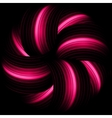 Red abstract waves on a black background EPS 8 vector image