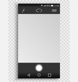 screen smartphone with camera interface vector image vector image