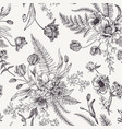 Seamless floral pattern with spring flowers vector image