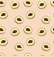seamless pattern of peach in cartoon style vector image vector image