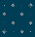 seamless pattern with tiny knot signs and pearls vector image vector image