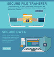 secure data and file transfer concept vector image