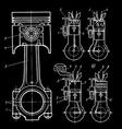 set blueprints vector image