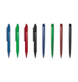 set of two types of pens in different colors vector image