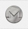 silver monero coin trendy 3d style icon vector image vector image