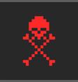 skull and crossbones symbol jolly roger logo vector image