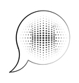 speech bubble message pop art isolated icon vector image