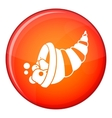 Thanksgiving cornucopia icon flat style vector image vector image