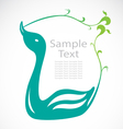 The design of the swans vector image vector image