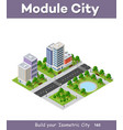 urban infrastructure business vector image