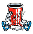vintage colorful drunk paper cup vector image