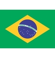 Flag of Brazil in correct proportions and colors vector image