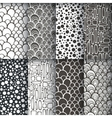 Black and white geometric seamless patterns se vector image
