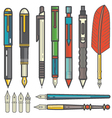 mechanical pencils pens and nibs set vector image