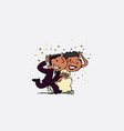 just married under rain of rice happy isolated vector image