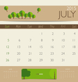 2015 calendar monthly calendar template for July vector image vector image