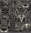 abstract seamless pattern on occult theme vector image