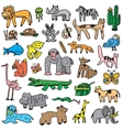 animals cartoons set vector image