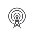 antenna icon on white background vector image vector image