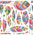 art feathers collection seamless pattern for your vector image vector image