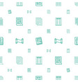 article icons pattern seamless white background vector image vector image