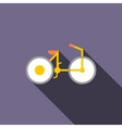 Bike icon in flat style vector image vector image