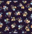 black pattern with flowers vector image