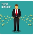 Businessman bankrupt vector image