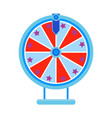 cartoon wheel fortune lottery design element vector image vector image