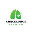 check lungs logo icon vector image