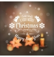 Christmas Typography Blurred Background vector image