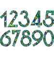 circuit numbers vector image vector image