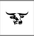 cow head silhouette logo vector image