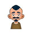 cute man character with mustache cartoon style vector image vector image