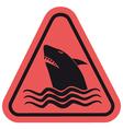 Danger shark zone vector image vector image