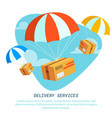 delivery service concept flat design colored vector image vector image