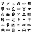 delivery work icons set simple style vector image vector image