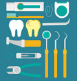 dental tools flat set vector image vector image