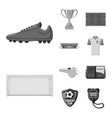 design of soccer and gear sign collection vector image vector image