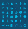 ecology environment solid web icons vector image