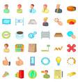 finance corporation icons set cartoon style vector image vector image