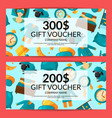 gift voucher or discount card template vector image