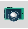 green smartphone weather cloud snow icon design vector image