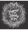 happiest holiday to you calligraphy quote vector image vector image