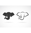 image of an elephant head design vector image vector image