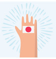 japan flag hand drawn vector image vector image