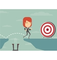 Jump the gap and achieve his goal vector image