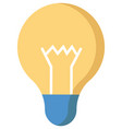 lamp idea icon object yellow light on white vector image